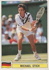 N°142 MICHAEL STICH DEUTSCHLAND PANINI TENNIS ATP TOUR 1992 STICKER VIGNETTE