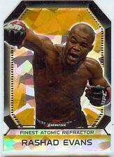 RASHAD EVANS 2011 UFC Finest Die Cut Atomic Refractor