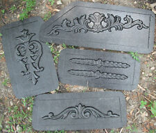 "4 embellishment plastic molds..plaster clay cement mold From 9"" - 16"""