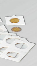 100 SELF ADHESIVE COIN HOLDERS 30mm - FOR OLD 1/2 PENNY