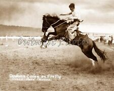 COWBOY OKLAHOMA OK CURLEY RIDING FIRE FLY PIKE'S PEAK COLORADO CO RODEO PHOTO