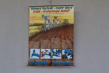 Schulwandkarte Rollkarte Lehrtafel Rabe Werk Drehpflüge Avant Landwirtschaft 70s