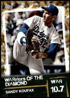 Sandy Koufax 2020 Topps WARriors of the Diamond 5x7 Gold #WOD-24 /10 Dodgers