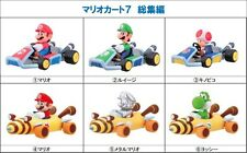 Japan Furuta Super Mario Kart 7 Full Set 6 Racer Car Candy Toy Model Figure MIB