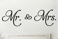 MR. AND MRS. Couple Wall Words Lettering Quote Decal Sticker Rustic Decor