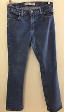 Harley Davidson Jeans 10 Blue Bootcut Stretch Distressed Destroyed Waist 30 IN