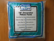 "18"" Square Decorator Pillow Form Insert Create A Craft Polyester Fill New"