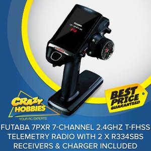 Futaba 7PXR 7-Channel 2.4GHz T-FHSS Telemetry Radio System With 2 X R334SBS RECE