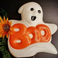 Vintage BOO GHOST 97' Blow Mold Halloween Light Prop Haunted House MADE in USA