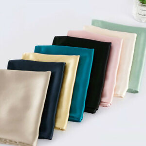 New Thicken Soft Silk Pillowcase Satin Pillow Cases Cushion Covers Home Decor