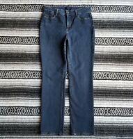 Talbots Petites Sz 10p Mid Rise Straight Leg Stretch Denim Jeans Dark Wash