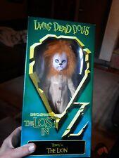 Living Dead Doll Teddy Cowardly Lion Lost In Wizard Of Oz Mip Mezco Sealed