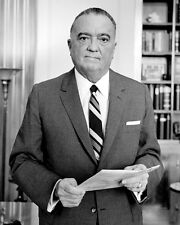 J. EDGAR HOOVER 8X10 PHOTO DIRECTOR OF U.S. F.B.I.