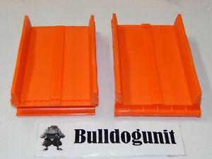 Hot Wheels Trio Super Stunt Builder 2 Orange Straight Ramp Parts Lot Only