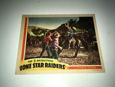 LONE STAR RAIDERS Movie Lobby Card Poster 1940 3 Mesquiteers Western