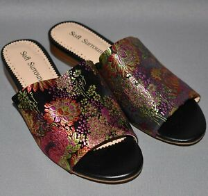 SOFT SURROUNDINGS NEW $99 Priya Sandals in Fuchsia Floral Size 7.5 M
