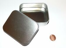 4-oz Rectangular Slip On Lid Survival Metal Tin Can Container Box Kit Craft Use
