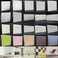 Self-adhesive Wall Sticker Panels 3D Stone Brick Foam Thick Wall Paper 60*60cm