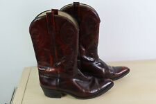 Vintage ACME Western Cowboy Boots Pointed Toe Dark Cherry 10E USA MADE 4939