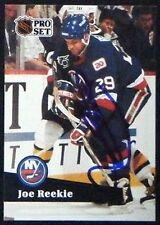 Joe Reekie New York Islanders 1991-92 Pro Set ProSet Signed Card