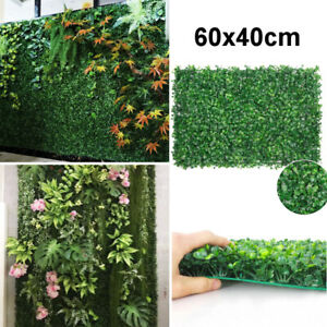 Artificial Boxwood Topiary Plastic Hedge Screening Wall Plant Panel for Garden