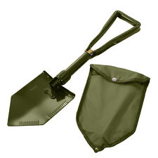 Olive Green Military Tri-Fold Folding Camping Boy Scout Survival Fox Hole Shovel