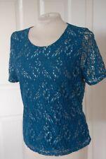 EASTEX New Blue Floral Textured Devore Chiffon 2 Piece Top Cami Set 10-14 RRP£59