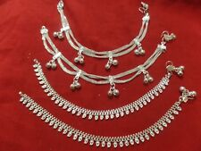 bells Pakistan India jewelry payal dress New listing Saree pair anklet ankle bracelet silver