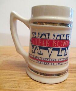 1982 SUPER BOWL XVII MIAMI DOLPHINS vs WASHINGTON REDSKINS Ceramic Mug RIGGINS