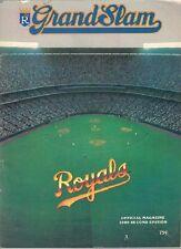 Kansas Royals V Cleveland Indians 1980 Magazine and scorecard