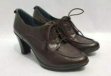 Rockport adiPRENE by adidas Brown Leather Ankle Boots UK 6.5 Tassel High Heel