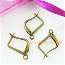 20 New Gold Dull Silver Bronze Plated Square French Earring Hooks 12x20mm
