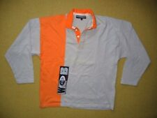 Vtg 90s WAVE BOARD Waveboard Orange RUGBY SHIRT Collared Polo Size Men's LARGE