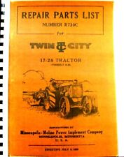 1929 Twin City Repair Parts List No.R730-C 17-28 Tractor Formerly 12-20 Frere SH