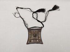 Pendentif Ancien Touareg Argent Gravé Niger Antic Tuareg Silver Necklace Nigeria