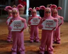 Christmas Story Ralphie Pink Bunny Jammies Key Chain Ornaments Set of 5