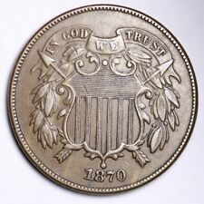 1870 Two Cent Piece CHOICE AU+ FREE SHIPPING E171 ACHT