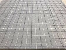Pink white check cotton flannelette remnant craft material fabric 120x110cm