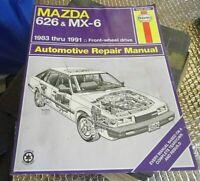 Haynes Repair Manual 83-91 Mazda 626 & MX-6 Front wheel Drive