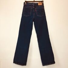 Levis 512 Jeans Womens Size 8S Blue Perfectly Slimming Stretch Denim Dark Wash 8