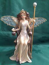 Pearl Shell Fairy Fairies Pearl Queen Ornament With Glitter Net Wings  Gift