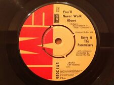 GERRY & THE PACEMACKERS re-issue 45rpm Single YOU'LL NEVER WALK ALONE