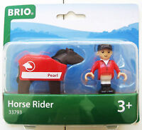 Pferd Reiter Brio NEU OVP 3Teile 3J.+ 33793 horse raider braun rot Set kinder