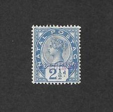 SOUTH AFRICA/NATAL SG 113 MH OG Handstamped SPECIMEN 1891 Queen Victoria CV £75