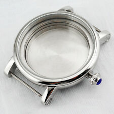 Polished SS 43mm Watch Case Fit ETA 2836 MIYOTA 8205/8215,Mingzhu 2813 Movement