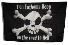 3x5 Jolly Roger Pirate 10 Fathoms Deep Flag 3'x5' Banner Brass Grommets