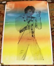 ELVIS PRESLEY SUPERB FULL COLOUR LIVE ON STAGE 1970'S U.K. PERSONALITY POSTER