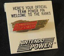 1989 Nintendo Team Power Members Enamel Pin Original Backing NES era Rare Red