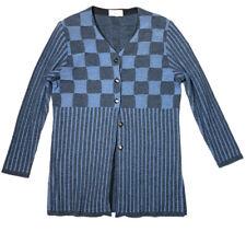 Generoso de Punto NOVAK Womens 44 L Vintage Cardigan Sweater Blue European Union