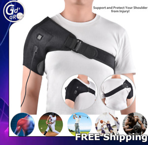Electric Shoulder Heated Pad Warmer Heating Therapy Wrap Brace Arthritis Relief